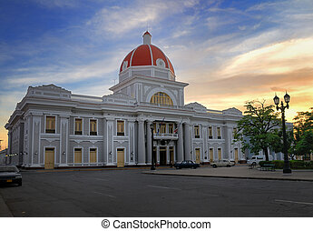 Cienfuegos city hall, cuba - A view of cienfuegos city hall...