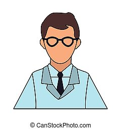 científico, avatar, caricatura