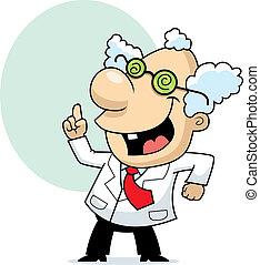 científico, enojado