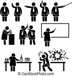 científico, profesor, laboratorio de la ciencia