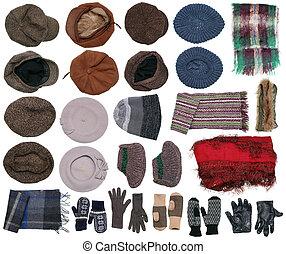 ciepły, zima ubranie