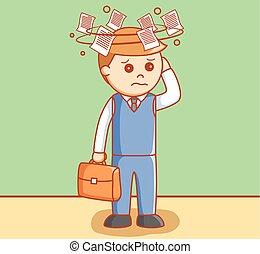 cierpiący na zawroty głowy, handlowiec