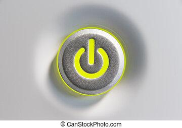 cierre, botón para arriba, potencia