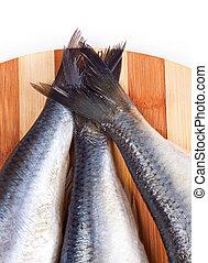 cierre, colas de pez, arriba