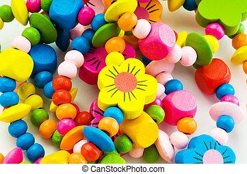 cierre, colorido, vario, arriba, pulseras
