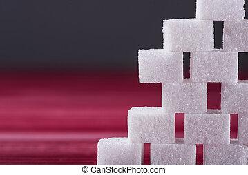 cierre, cubos, vista, Arriba, azúcar