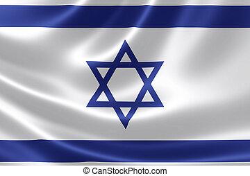 cierre, israel's, bandera up