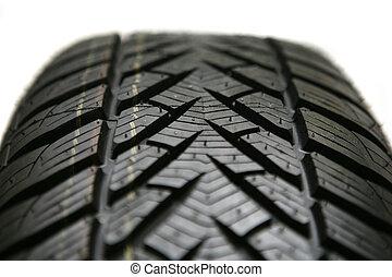 cierre, neumático, vista