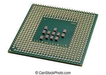 cierre, procesador, arriba, unidad central de procesamiento