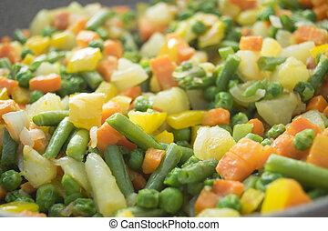 cierre, vegetales,  oriental, Arriba