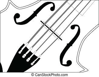 cierre, violín, arriba