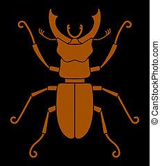 ciervo, 2489, -, escarabajo