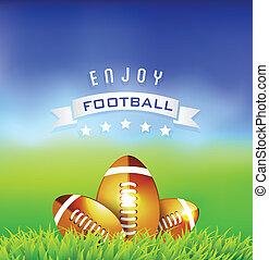 cieszyć się, amerykańska piłka nożna, tło, czas
