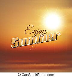 cieszyć się, lato, tło