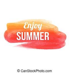 cieszyć się, lato