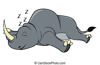 cieszyć się, nosorożec