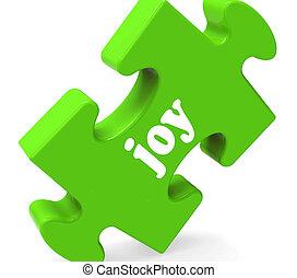 cieszyć się, radość, zagadka, radosny, szczęśliwy, radosny, widać