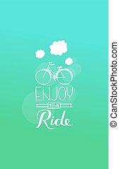 cieszyć się, ride.eps