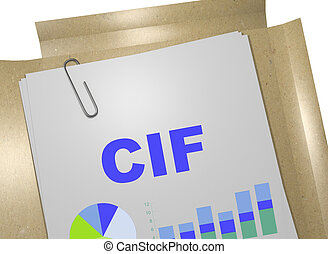 CIF - business concept
