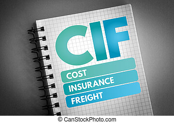 CIF - Cost Insurance Freight acronym