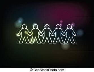 cifras humanas, consecutivo, -, ilustración