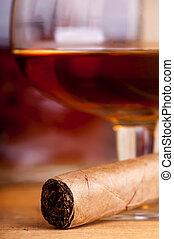 cigar and brandy