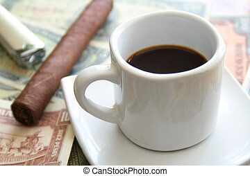 Cigar and espresso