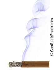 Cigar and smoke