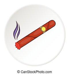 Cigar icon, flat style - Cigar icon. Flat illustration of...