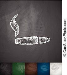 cigar icon. Hand drawn vector illustration
