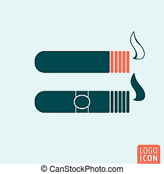 Cigar icon isolated