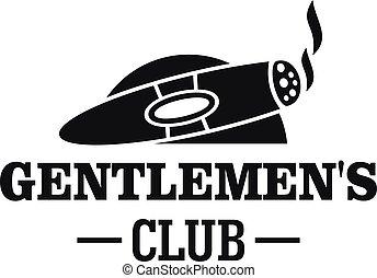 Cigar men club logo, simple style