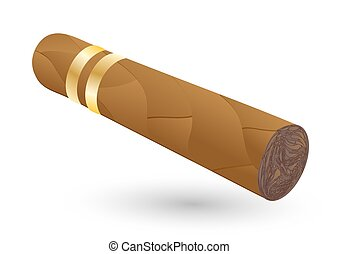 cigar on white - cigar with shadow on white background