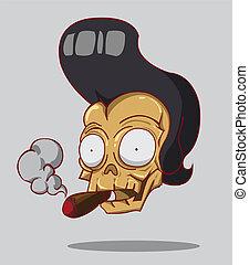 cigare, crâne