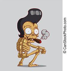 cigare, squelette
