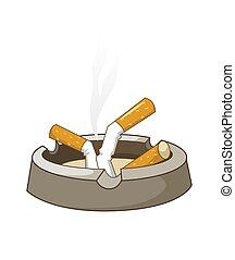 cigaretes, cenicero