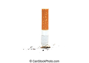 cigarett, kulle, vita, backgraund