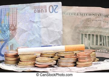 Cigarette and Money