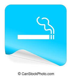 cigarette blue sticker icon