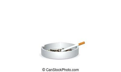 cigarette, brûlé
