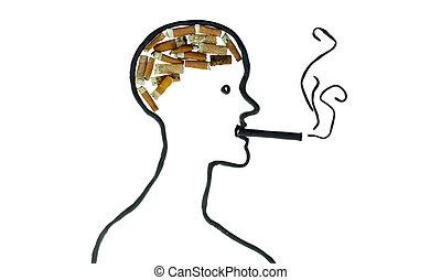cigarette brain concept