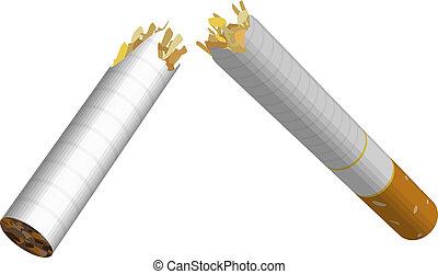 cigarette broken illustration