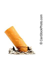 cigarette butt macro - isolated, shallow dof
