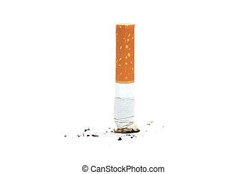 cigarette, butte, blanc, backgraund