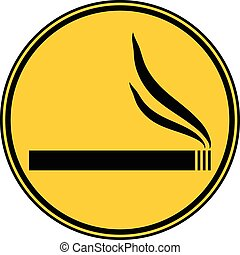 Cigarette button.