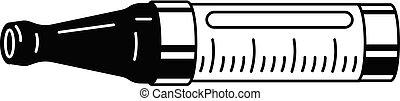 Cigarette cartridge icon, simple style