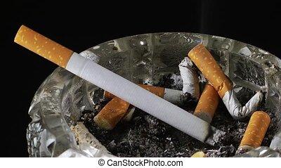 cigarette, défaillance, temps, cendrier