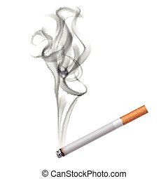 Cigarette Dark Smoke Background