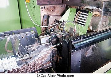 Cigarette factory - Cigarette factory, process of production...