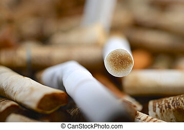 Cigarette Filter with Nicotine